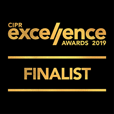 Finalist in the CIPR Excellence Awards 2019